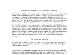 the conflict between good and evil in macbeth gcse english  document image preview