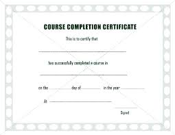 Templates For Certificates Of Completion Certificates Of Completion Templates Awesome Free Editable