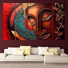 red buddha wall painting