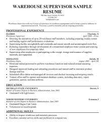 Warehouse Supervisor Resume Sample Of Warehouse Supervisor Resume Mbm Legal