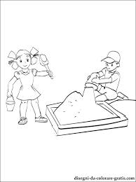 Disegno Bambini Giocare Con La Sabbia Da Colorare Disegni Da