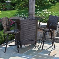 3 Piece Patio Bar Set 3 Piece Patio Bar Set I Nongzico