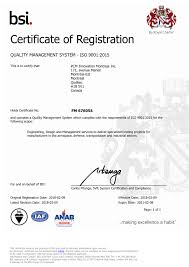 Certifications Registrations Pcm Innovation