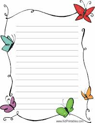 butterflies stationery printable lined writing paper  writing paper