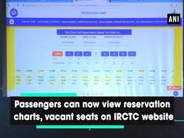 View Railway Chart Online Passengers Can Now View Reservation Charts Vacant Seats On Irctc Website