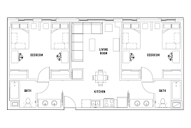 2 Bed 2 Bath d Bedroom Chestnut Square Student Housing