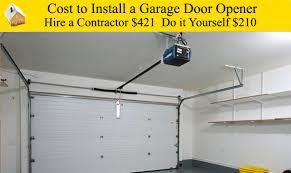 watch cost to install new garage door opener epic garage door repair