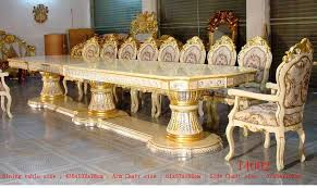 indian carved dining table. royal palace 435cm silver gold gilded carved long big luxury dining table with two side indian l