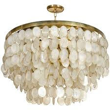 lighting pearl white capiz shell chandelier for home ideas within pendant light inspirations 13