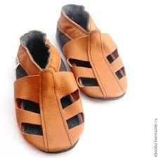 soft sole baby shoes leather handmade infant gift kids sandals brown ea