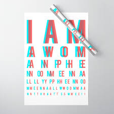 I Am A Woman Phenomenally Phenomenal Woman Thats Me Eye Chart Wrapping Paper By Mensijazz