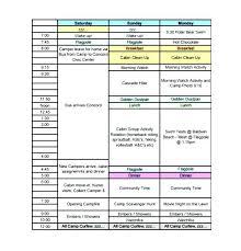 Summer Camp Calendar Template 9 Family Calendar Templates
