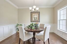wainscoting dining room. Wonderful Dining 1Story Home With Open Floor Plan 9u0027 Ceilings Throughout Formal Room Triple Windows And Craftsman Style Wainscoting Chair Rail
