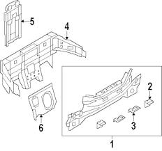 Genuine infiniti seat support inf 76730jj51a