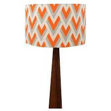 orange arrow geometric wooden table lamp