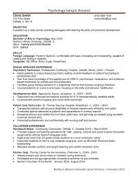 Psychology Resume Examples Simple Pleasant Design Psychologist Resume 48 Psychologist Resume Inside