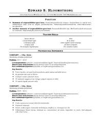 Traditional Resume Template Free Classy Free Traditional Resume Templates Free Traditional Resume Templates