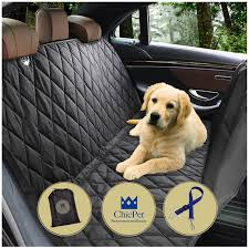 dog car seat cover boot liner dog hammock for pets and kids with pet seat belt lead and storage bag waterproof washable non slip fits all cars trucks