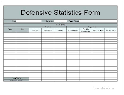 Excel Statistics Template Hockey Stats Spreadsheet Free Football Stat Sheet Template Excel