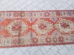 3 x 9 5 vintage oushak runner rug old turkish hallway