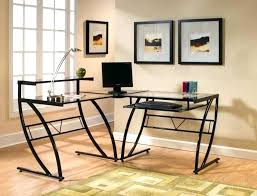 glass home office desks s glass corner desks home office
