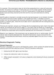 Toyota Electronic Transmission Checks Diagnosis Pdf