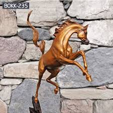 large bronze outdoor life size jumping hoof horse statue for bokk 235