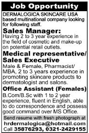 dermalogica skincare needs sales manager medical representative sales executive office assistant medical sales representative jobs