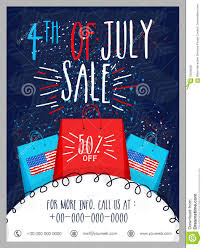 Sale Template Banner Or Flyer For 4th Of July Stock Illustration