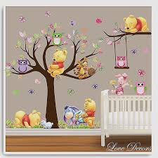 disney nursery wall decals unique 54 wall sticker baby room winnie the pooh wall stickers owl