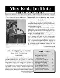 2 - the Max Kade Institute! - University of Wisconsin-Madison