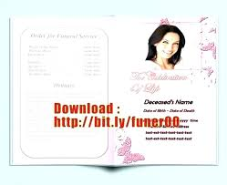 Microsoft Publisher Program Template Free Funeral Program Template Brochure Word Best Creative