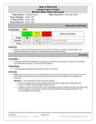 Project Report Excel Template With Project Status Report Form Format