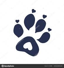 Kočka Nebo Pes Tlapa Tisku Tetování Design Stock Vektor