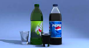 Pepsi and 7up Bottles 3D Model