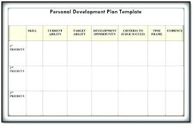 Personal Plan Template Personal Professional Development
