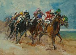 horse painting horse race by jim ryon