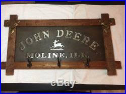John Deere Coat Rack Embossed John Deere Signs 80