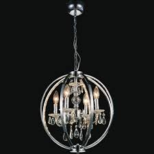 kitchen stunning cage light chandelier 27 0002206 18 led modern crystal round pendant polished chrome 4