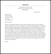 Professional Warehouse Supervisor Cover Letter Sample