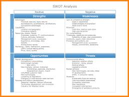 Swot Analysis Example 24 Example Of A Swot Analysis Lease Template 4