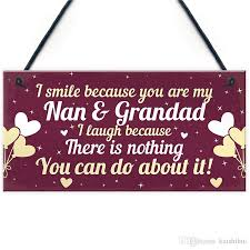 funny nan and grandad gift plaque novelty grandpas gifts from grandchildren thank you birthday gifts home decorating furniture home decorating photos