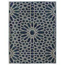 ottomanson authentic collection contemporary geometric pattern design blue 8 ft x 10 ft area