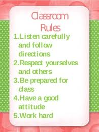 Classroom Rules Rewards And Consequences