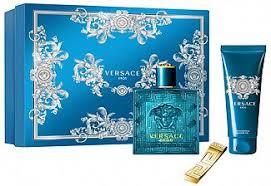 versace eros eau de toilette 100ml shower gel 100ml money clip gift set
