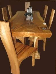 teak wood table. Teak Dining Room Furniture : Gorgeous Design With Natural Wood Table And R