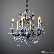 replica item american style vintage 19th c rococo iron clear crystal round chandelier french luxury re pendant light pendants from zplus