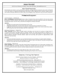 Nurse Practitioner Resume Template Resume And Cover Letter
