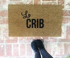 Le Crib Doormat-door mat-door mats-custom door mat-welcome