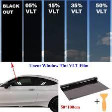 15 50 Vlt Black Car Home Glass Window Tint Film Vinyl Shade 50cm X 100cm Vova